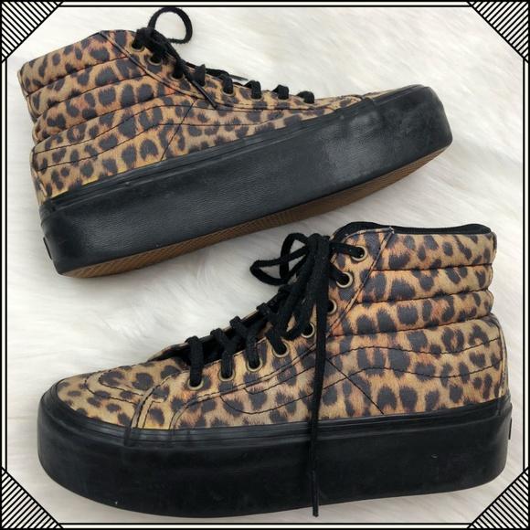 05370048dc1de2 Vans Sk8 Hi Top Platform Shoes   Leopard Print. M 5b92107245c8b307c4efada0